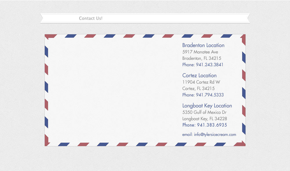 Envelope with red and blue striped border